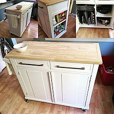 1 of 23. kitchen island with solid wood top. country kitchen