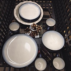 Sango Concepts 16 Piece Dinnerware Set In Eggplant Bed Bath Beyond