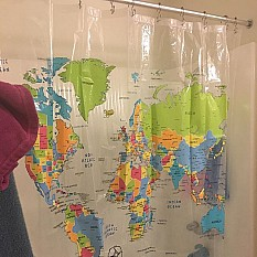 View Details Of The World Vinyl Shower Curtain
