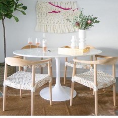 Modway Lippa Round Wood Top Dining Table In White Bed Bath Beyond