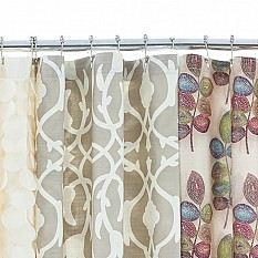 Bed Bath And Beyond Shower Curtain croscill® mosaic leaves fabric shower curtain | bed bath & beyond