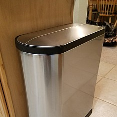 View details of simplehuman® Brushed Stainless Steel Fingerprint-Proof  Butterfly 45-Liter Step 964ba851eb4b