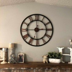 View Details Of Infinity Instruments 28 Inch Roman Numeral Metal Fusion Wall Clock