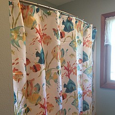 View Details Of Rainbow Fish Shower Curtain