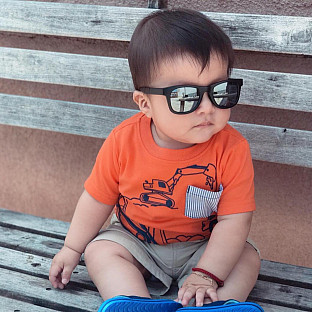 00e0e14b0dde2 View details of Baby Opticals by Hipsterkid™ Tinted Lens Sunglasses in Black